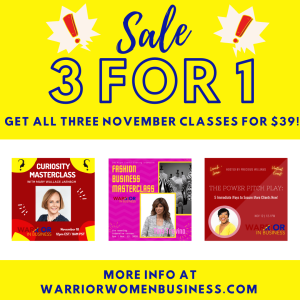 Attend 3 Warrior Women Classes in November for the Price of 1!